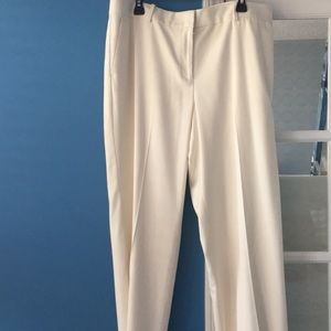 Ann Taylor white trousers